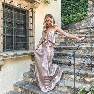 New amsale bridesmaids dress size XS champagne